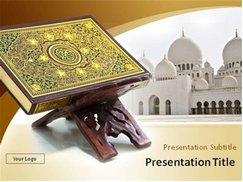 quran themes for powerpoint download the holy quran with muslim mosque in the