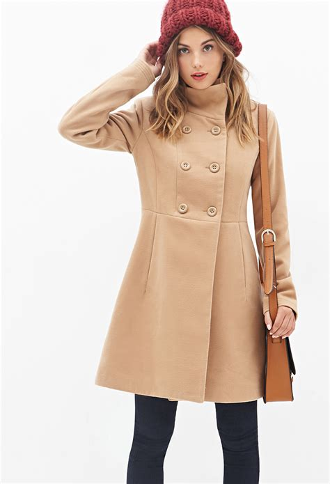 Swing Coat by Lyst Forever 21 Stand Collar Swing Coat In