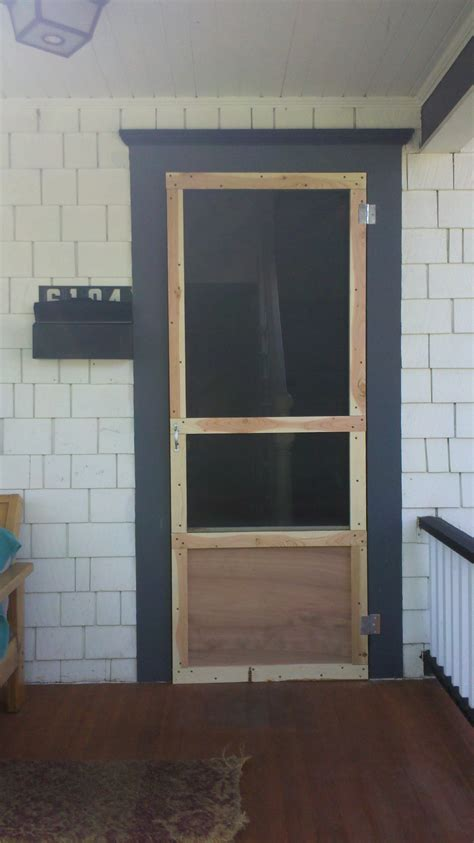 Cheap Wooden Screen Doors make a cheap custom screen door for your porch