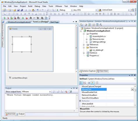 tutorial c list c c sharp tutorial ajouter un menu contextuel dans