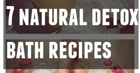 Detox Bath Recipes For Allergies by 7 Detox Bath Recipes For Effective Cleansing Detox
