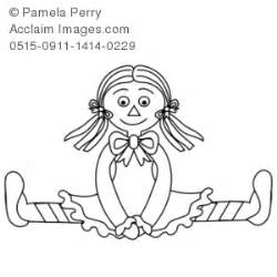 black doll white doll research black and white clip illustration of a rag doll