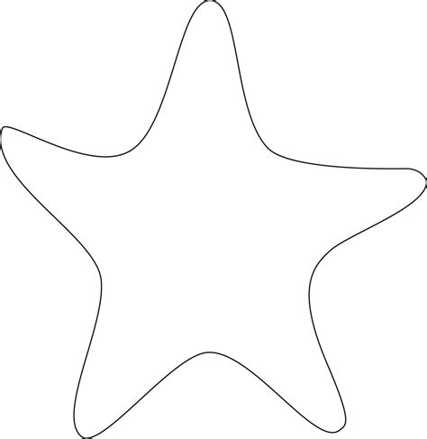 starfish template starfish outline clipart clipartsgram