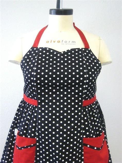 apron pattern plus size the betty plus size apron black and white polka dot