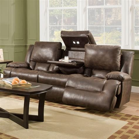 franklin reclining sofa with drop down table franklin excalibur power reclining sofa with adjustable