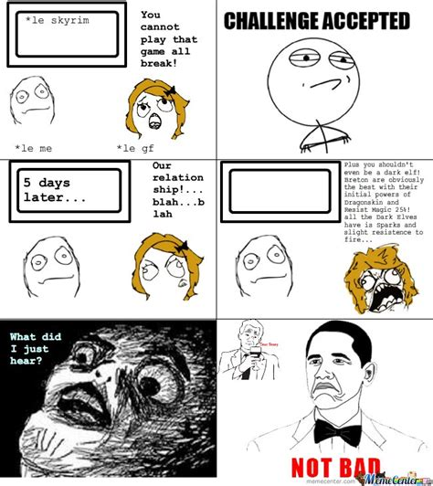 Memes Cartoons - skyrim rage comic by serkan meme center