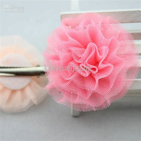 hair flower clip bridal wedding flower girl tulle silk 2 8 tulle flowers hair clip tutu mesh flowers barrettes