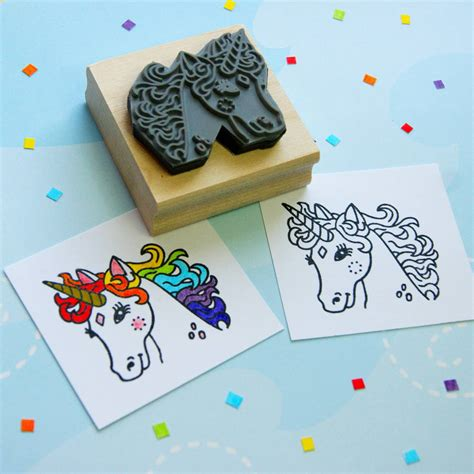 Unicorn Colouring In Rubber St By Skull And Cross Buns