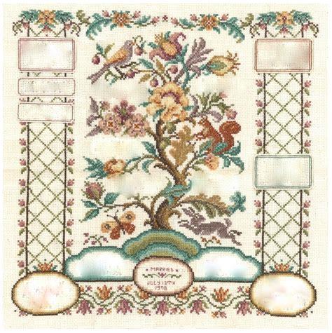 tree cross stitch pattern mistledoe the family tree cross stitch