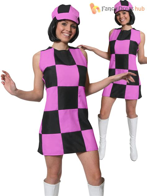 swinging in the 70s ladies 1960s party girl costume adults swinging 60s 70s