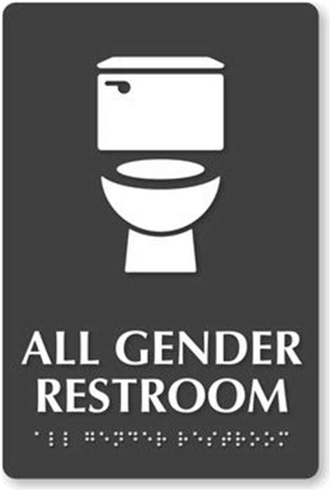 bathroom sign people all gender restroom braille sign handicap and toilet