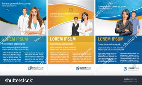 templates advertising brochure flyers business people