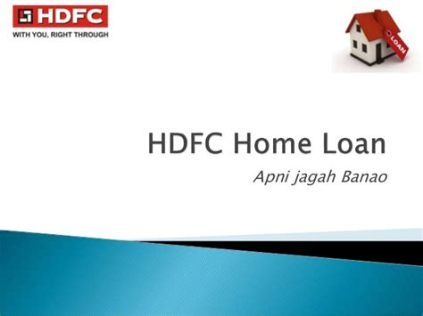 hdfc housing loan hdfc home loan