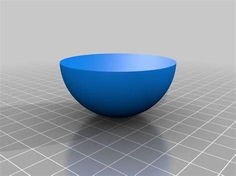 Hemisphere Bowl 1 free 3D Model 3D printable .stl