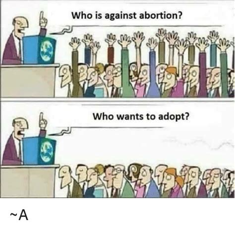 Who Is This Meme - who is against abortion who wants to adopt a meme on