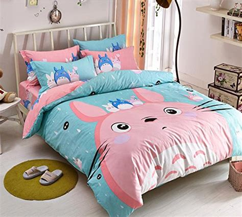 Anime Duvet Covers memorecool new arrival japanese anime my totoro 4 pieces bedding set 100
