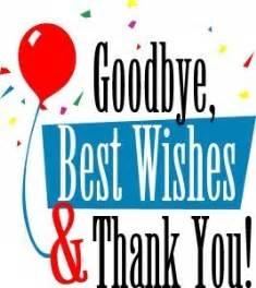 Farewell good bye and good luck to tracy wilson and big joe brisbane