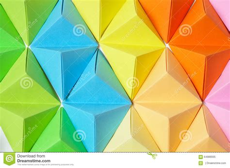 Colorful Origami - colorful origami background stock photo image 64986935