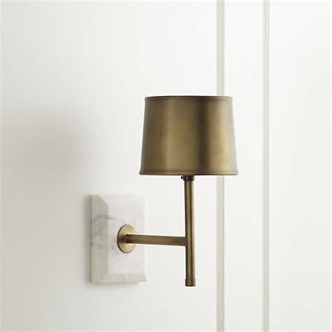 bathroom candle sconces astor brass sconce crate and barrel