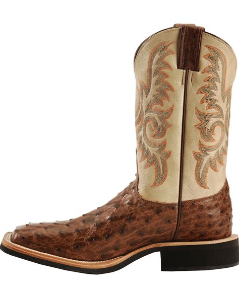 justin boots square toe justin aqha quill ostrich cowboy boots square toe