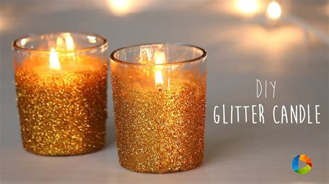 how to make a glitter candle diy home decor 187 the real diy glitter candle youtube