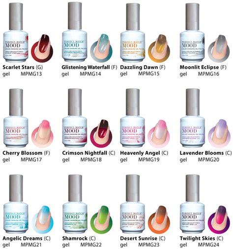sle mood chart lechat match gel mood color changing