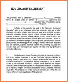 Generic Non Disclosure Agreement Template 7 generic non disclosure agreement template purchase
