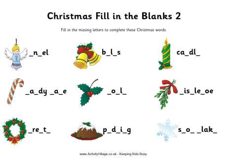 printable christmas fill in the blank games blog archives letitbitvermont