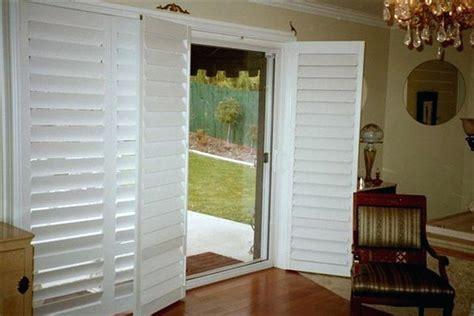 Patio Door Sliding Shutters by Plantation Blinds For Sliding Doors White Plantation