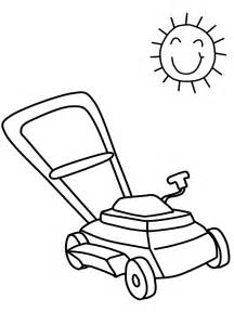 Lawn Mower Coloring Pages Lawnmower2 Summer sketch template