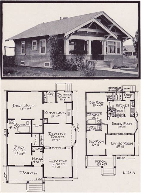 Craftsman Bungalow Floor Plans by Best 25 Bungalow Floor Plans Ideas On Pinterest Cottage