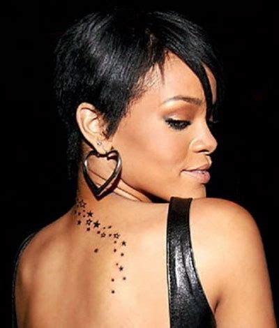 rihanna back tattoo rihanna all tattoos on neck back ear