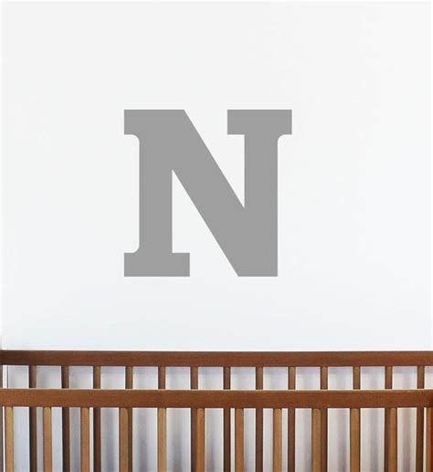 large letter wall stickers large letter wall sticker by chip