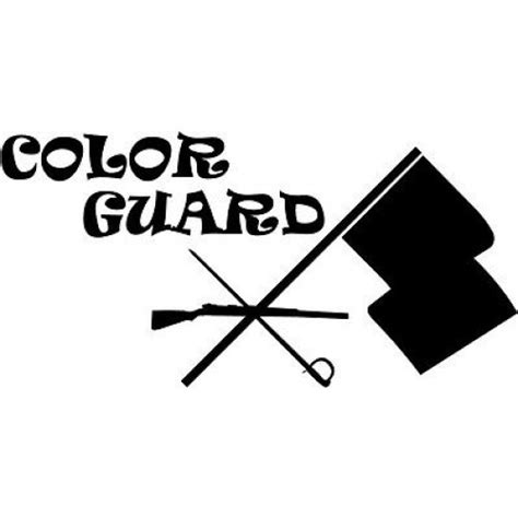 used color guard flags color guard rifle clipart www pixshark images