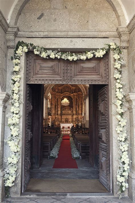 church ceremony decor  love the entry way door   Event