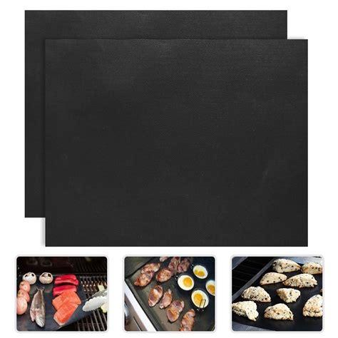 kertas lapisan panggangan bbq grill mat reusable black jakartanotebook