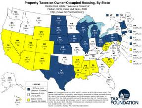 Property Tax Map Property Taxes On Owner Occupied Housing By State