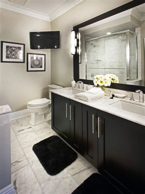 black bathroom cabinet ideas transitional bathrooms from deleon on hgtv there