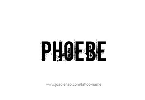 phoebe tattoo designs phoebe mythology name designs tattoos with names