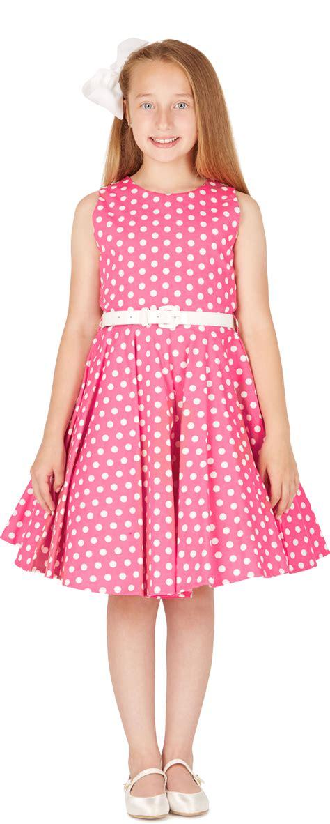 Dress Kid Ursula Polka beautiful vintage polka dot 50 s floral
