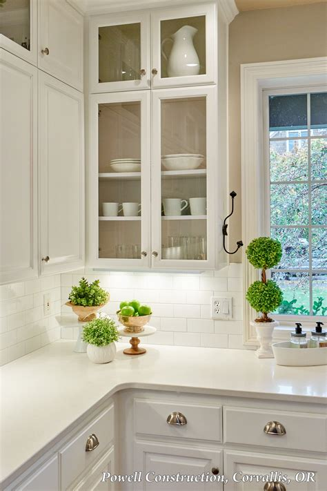 Open Front Kitchen Cabinets by This Classic White Kitchen With Fresh Accents And Open
