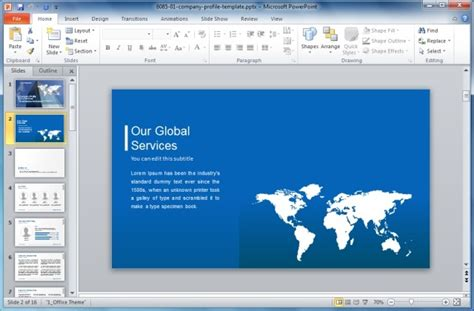 Preparing Effective Sales Powerpoint Presentations Company Profile Powerpoint Template Free