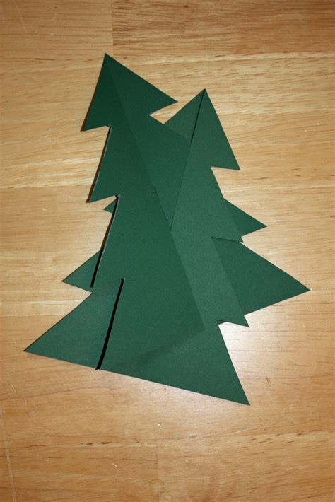 Craft And Activities For All Ages Make A 3d Card Christmas Tree With Printable Template 3d Tree Template Free