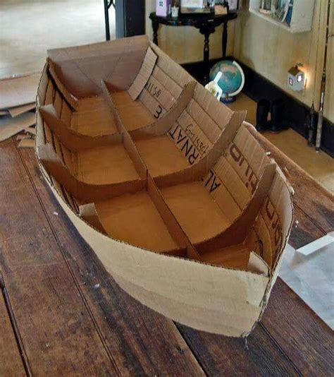 How To Make A 3d Ship Out Of Paper - cardboard boat hairs boating cave quest