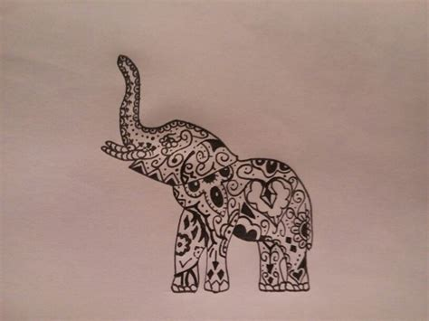 elephant tribal tattoo best 25 tribal elephant tattoos ideas on