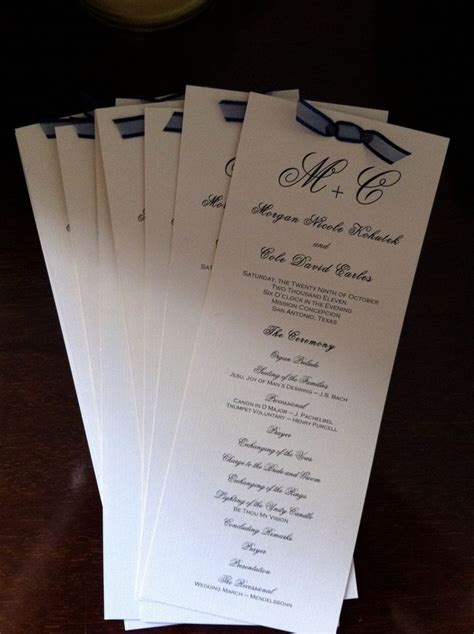1000  ideas about Wedding Programs Simple on Pinterest