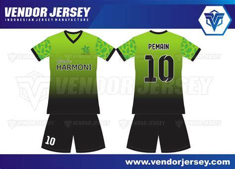 desain kaos futsal kuning hitam pembuatan jersey futsal gradasi warna hitam dan hijau
