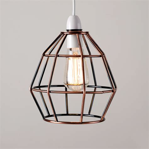 Copper Vintage Industrial Style Cage Ceiling Pendant Light Copper Shade Pendant Light