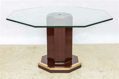 glass center table french modern mahogany bronze and glass center table