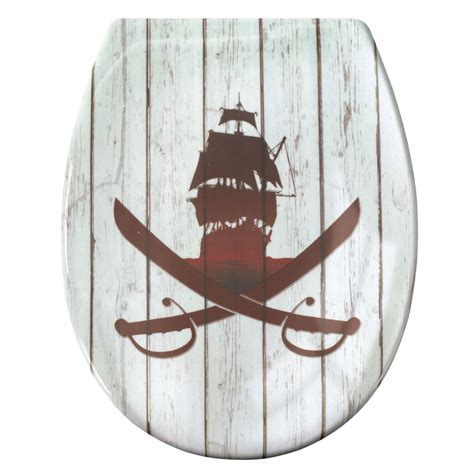 Pirate Plumbing by Kleine Wolke Soft Toilet Seat 1810 348